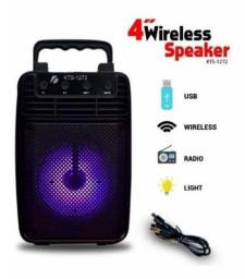 Caixa De Som Potente Bluetooth Portátil Sem Fio Radio Led