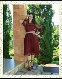 Vestido em Tule moda evangélica
