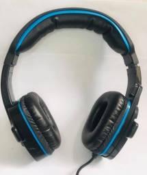 Promoção Headset Gamer P2 c/ microfone p/ PC novo e com garantia