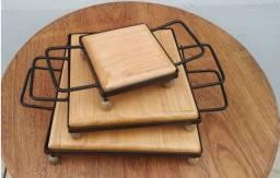 Descanso de panelas Kit 3 peças