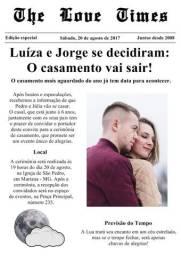 Convite de casamento estilo Jornal