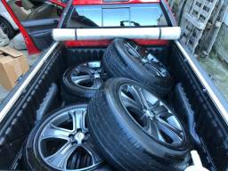 Jogo de rodas 20 com pneus (Preço pra torrar)