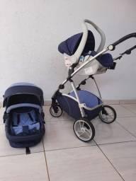 Carrinho de bebê dzieco maly + BB conforto galzerano com adaptador para carrinho
