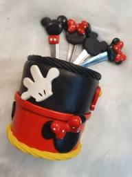 Kit biscuit mickey com 4 colheres