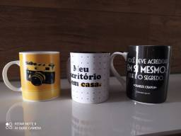 Kit 3 Canecas Home Office