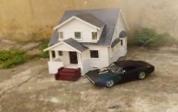 Maquete Diorama Velozes e Furiosos Casa do Toretto