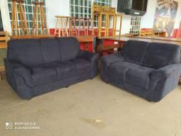 Jogo de sofá 2 e 3 lugares, apenas, R$ 799,99 a vista.