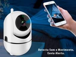 Câmera IP, Sem Fios, Via Wi-Fi, Varredura E Com Visão Noturna