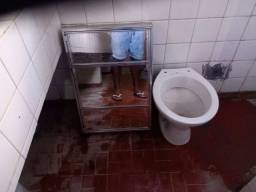 Vaso sanitário e espelho armário de banheiro