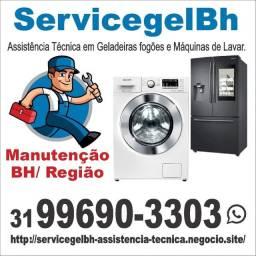 Assistência técnica Especializada Consertos Geladeria Frost Free Máquinas Lava e seca