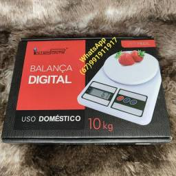 Balança digital para uso doméstico.