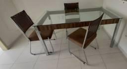 Mesa de Jantar com 6 Cadeiras Aço Nobre - moderna e aconchegante.