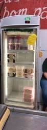Freezer vertcial porta de vidro para congelados