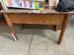 Mesa madeira 1,10m com duas gavetas