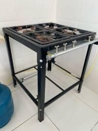 Fogão 4 bocas a gás baixa pressão profissional Progas
