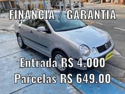 POLO SEDÃ 1.6, ENTRADA + PARCELAS 649,00