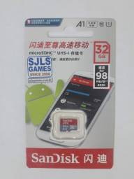 Cartão Micro Sdhc Sandisk Ultra 32gb C10 98mbs