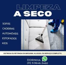 Limpeza e aluguel de máquina para higienizaçao de estofados