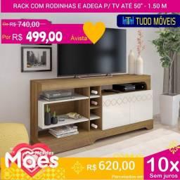 PROMOÇÃO DAS MÃES - RACK P/ TV Até 50 POL 2 PORTAS
