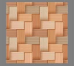 Papel de parede - adesivo madeirado