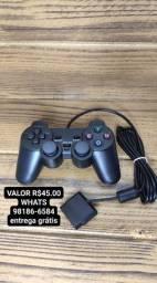 Controle PS2 com fio.