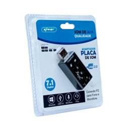 Adaptador para placa de som Externo Knup HB-T64