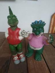 Bonecos família dinossauro Bob Robbie e Charlene