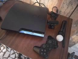 TORRO PS3 COMPLETO COM PS MOVE E 3 CONTROLES
