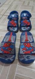 Sandálias do homem aranha tamanho 25