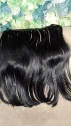Duas telas de cabelo Humano