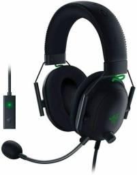 Headset Gamer Razer BlackShark V2, Som Surround 7.1 com Placa de som USB