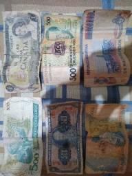 Nota e moedas antigas