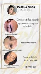 Cilios, maquiagem e sobrancelha