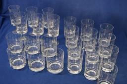 Copos e taças de cristal