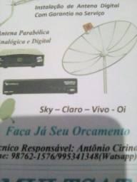 Serviços em antenas antenista