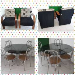 Mesa c/ cadeiras - Poltronas (vendo separado)