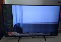 Televisão tela quebrada