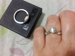 VD Barato - Par de anel de noivado - compromisso em prata. Importado do México