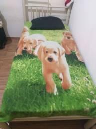 Vendo cama tubular com colchão solteiro 150