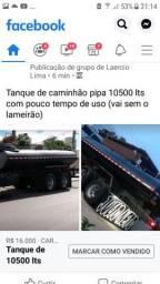 Tanque de caminhão pipa 10500 lts