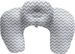 Almofada de Amamentação com Travesseiro - Cinza, BUBA, Cinza