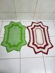 Oferta Tapetes para Banheiro em Crochê de Barbante com Cores