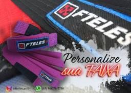 Faixas artesanais de Jiu Jitsu para treino ou competição (Personalização)