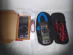 Alicate Amperimetro Digital Minipa mais Capacimetro Digital