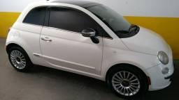 Fiat 500 lounge air automático com teto solar branco - 2012