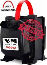 Super Transformador 3000va P/ Ar Condicionado Geladeira Aspirador Pó Entregamos Ac/ Cartão