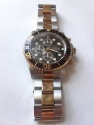 Relógio Invicta Pro Diver 1772 - Pulseira Prata e Dourada - Original