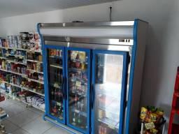 Expositor Vertical Auto Serviço 3 Portas Azul