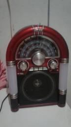 Radio portátil lê cartao de memória pen drive e mp3
