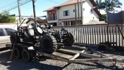 Usado, Gaiola 4x2 com motor ap injetado e carreta reboque - 1998 comprar usado  Curitiba